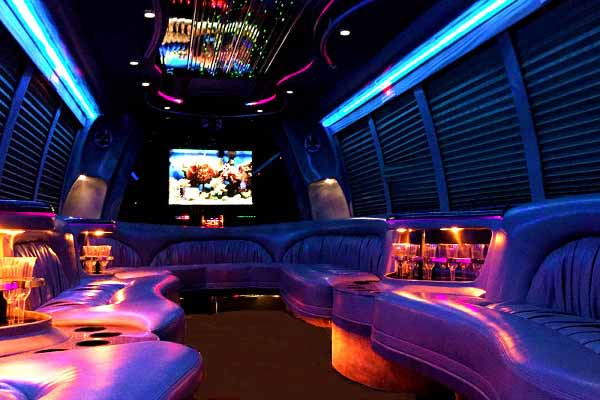 18 passenger party bus rental Limon