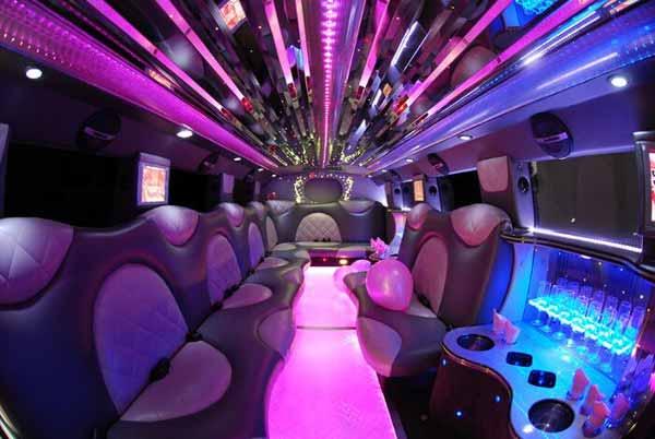 Cadillac Escalade limo interior Aurora